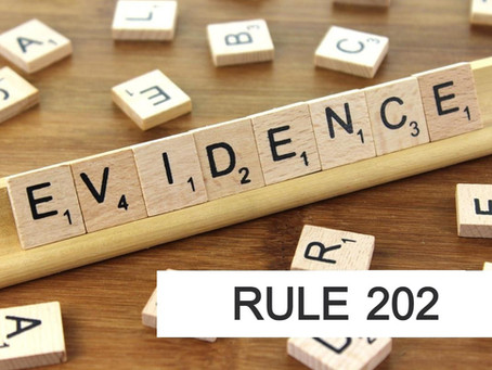 Conroe Criminal Defense Lawyer - Rules of Evidence Series RULE 202