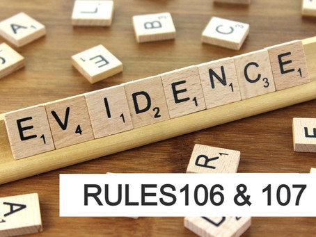 Conroe Criminal Defense Lawyer - Rule of Evidence Series RULES 106 and 107