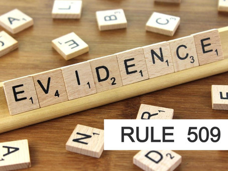 Woodlands Criminal Defense Attorney Rules of Evidence Series RULE 509