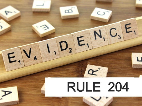 Conroe Criminal Defense Lawyer - Rules of Evidence Series RULE 204