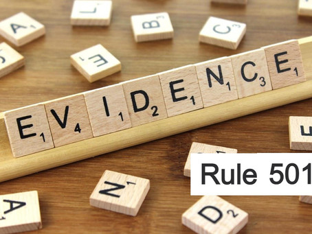 Conroe Criminal Defense Lawyer - Texas Rules of Evidence Series RULE 501