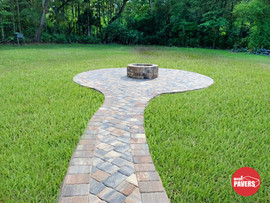 Fire pit and pavers