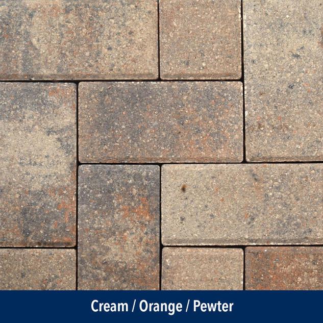 Cream Orange Pewter