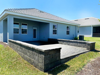 Pavers and sitting wall