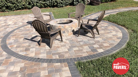 Circled patio Sierra color