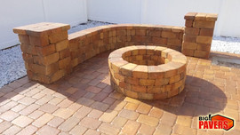 Sitting wall and Fire Pit