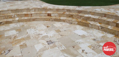 Steps with travertine