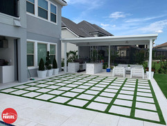 Pavers with Artificial grass