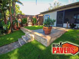Retaining wall and Pavers on Patio