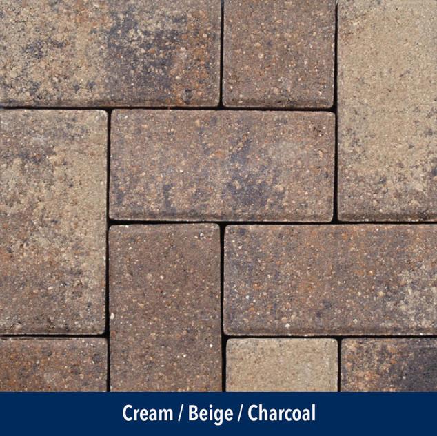 Cream Beige Charcoal