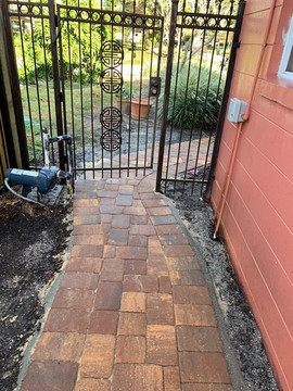 Pavers on walkway