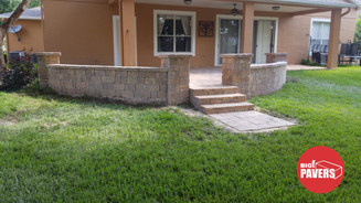 patio with wall