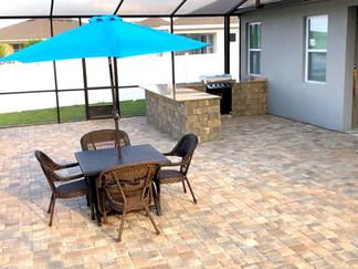 Pavers on patio