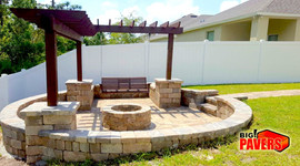Decoration wall and Fire Pit