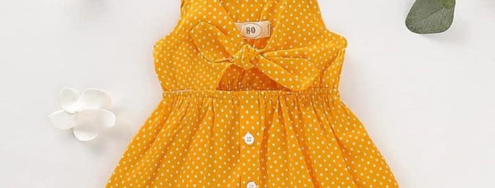 Polka Dot Bowknot Dress