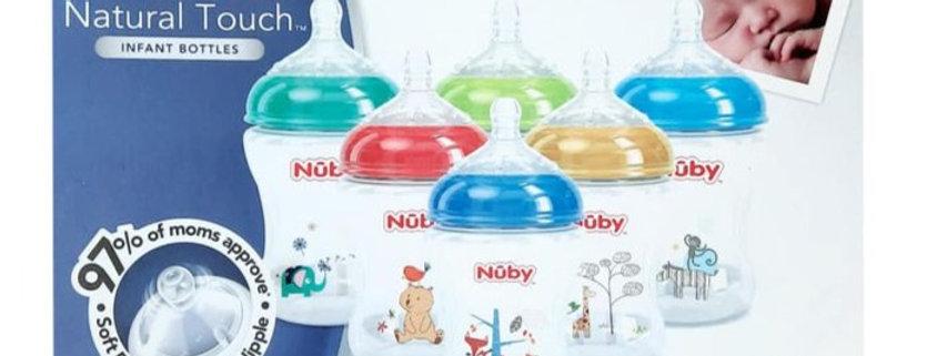 Pack of 6 Nuby 9oz Infant Bottles