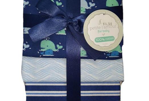 Whale Sea Receiving Blankets
