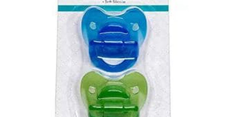 Pack of 2 Silicone Pacifiers