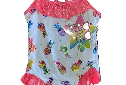 Pink Tropical Pine Bathing Suit
