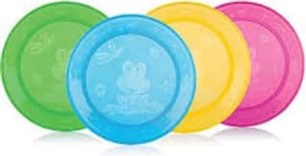 Nuby Pack of 4 Feeding Plates
