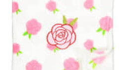 White Rose Plush Blanket