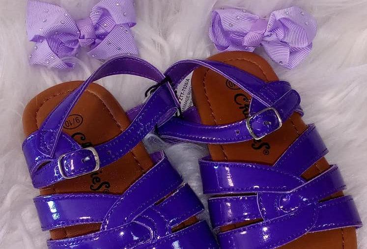 Purple Strap Sandals