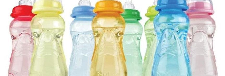 Nuby Silicone Nipple Feeding Nurser Bottle