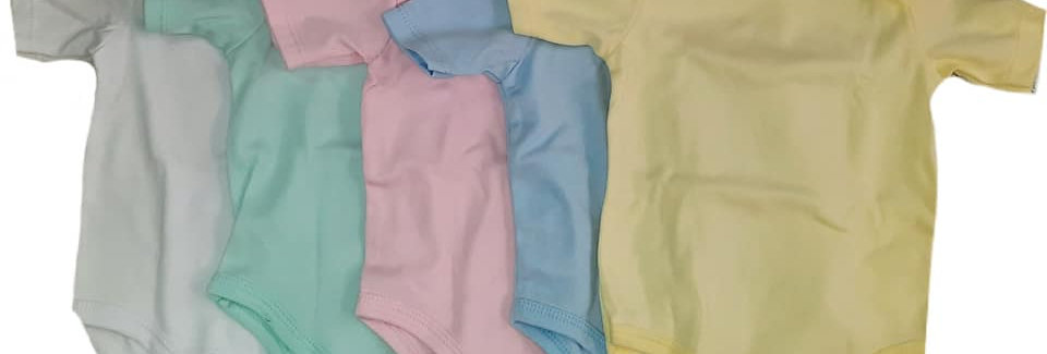 Single Solid Colored Bodysuits