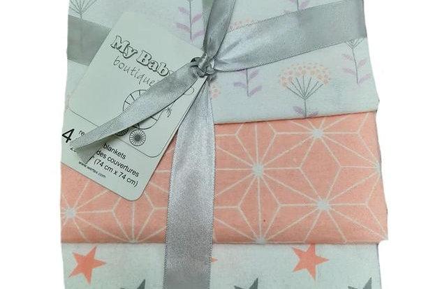 Starlight Garden Pack of 4 Receiving Blankets
