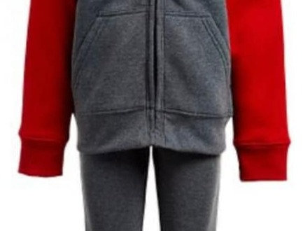 Red & Grey Reebox Sweat Suit