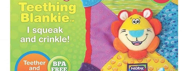 Nuby Teething Blanket