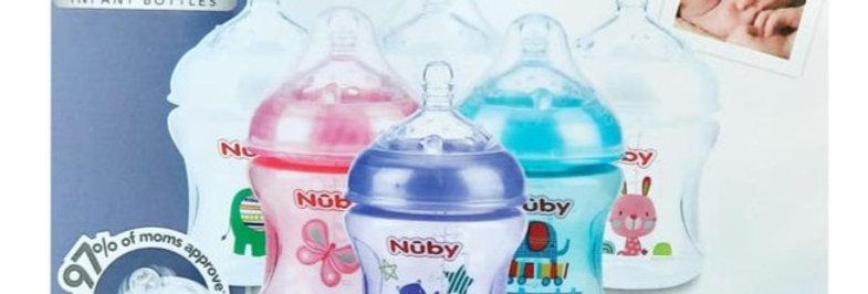 Pack of 6 Nuby 6oz Infant Bottles