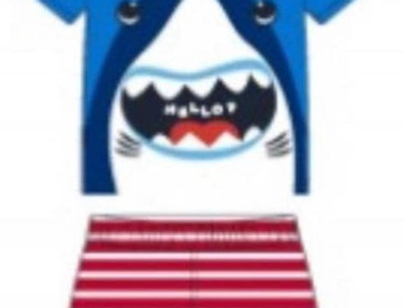 Hello Shark Swimsuit Set