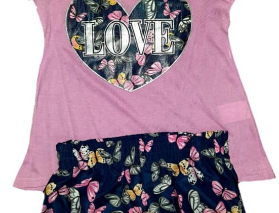 Pink Love Butterfly Hearts (kbw)