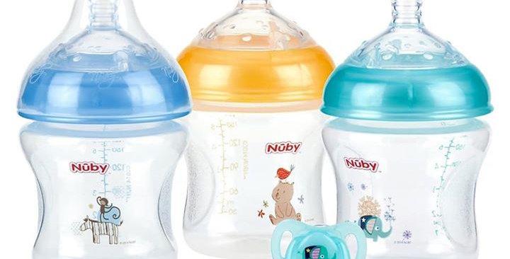 Nuby 6oz Pack of 3 Infant Bottles