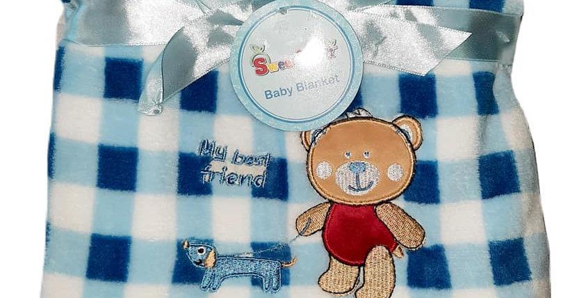 My Best Friend Bear Plush Blanket