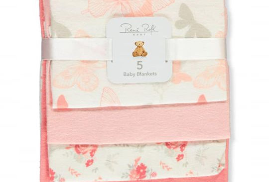 Butterfly Cuddle Pack of 5 Baby Blanket
