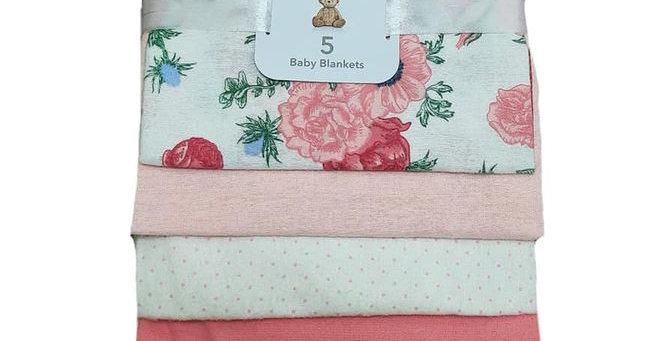 Rose Ville Pack of 5 Baby Blankets
