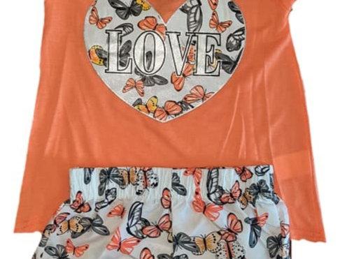 Peach Love Butterfly Hearts (kbw)
