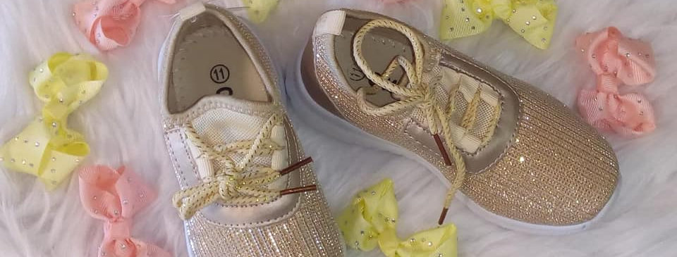 Gold Shimmer Sneakers