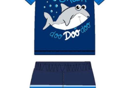 Blue Baby Shark Swimsuit Set