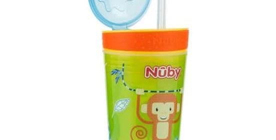 Nuby Snack & Sip w/ Flexible Silicone Straw