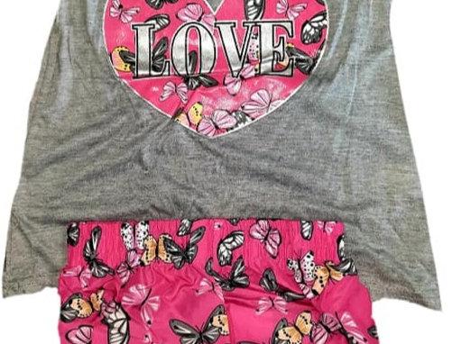 Grey Love Butterfly Hearts (kbw)
