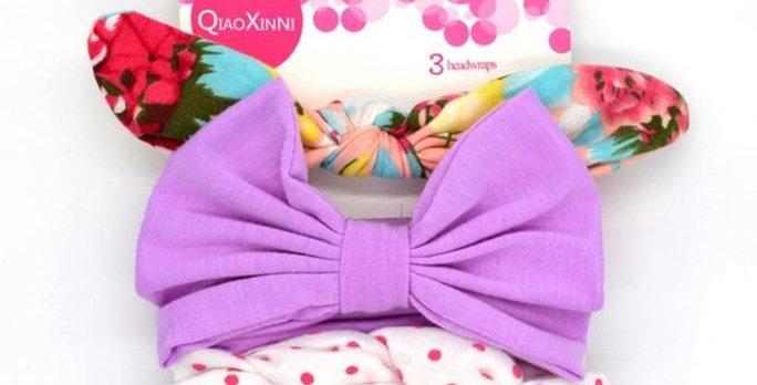 Cute Bowknot Headband Set