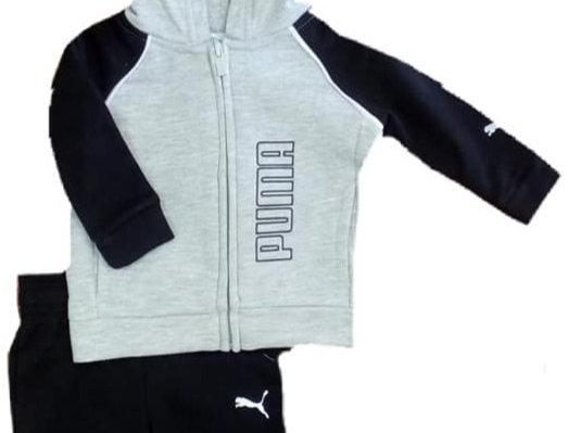 Puma Grey & Black Warm Up Suit