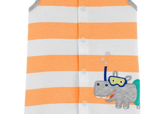 Carter's Snorkeling Hippo Jumpsuit (KBW)