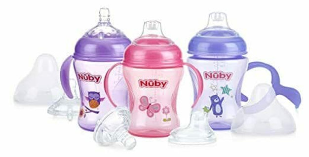 Nuby Natural Touch Breast Size Bottle to Cup