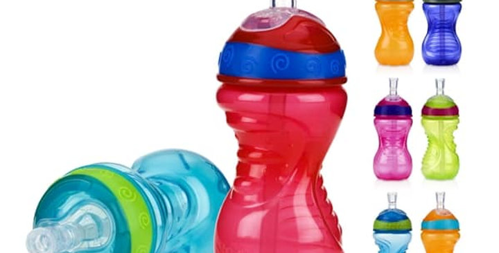 Nuby No Spill Super Straw Easy Grip Sip Cup