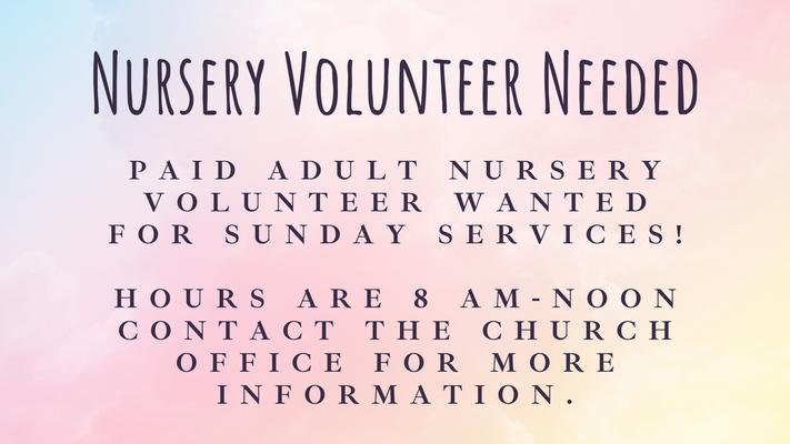Adult Nursery Volunteer