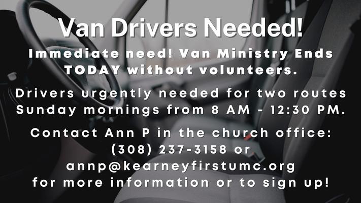 Van Drivers Needed!